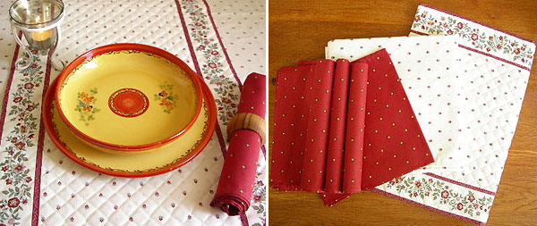 Provence Christmas Table linen set