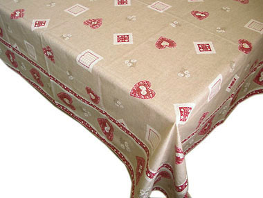 Tablecloth coated (Christmas lace. natural)