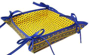 Provencal bread basket (Lourmarin. yellow x blue)