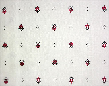 French coated tablecloth (Calissons. white x bordeaux)