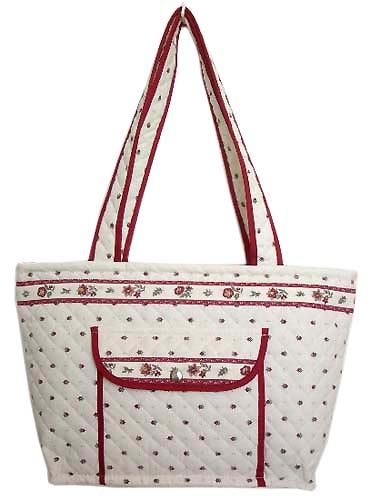Provence pattern tote bag (Calisson. white x bordeaux)