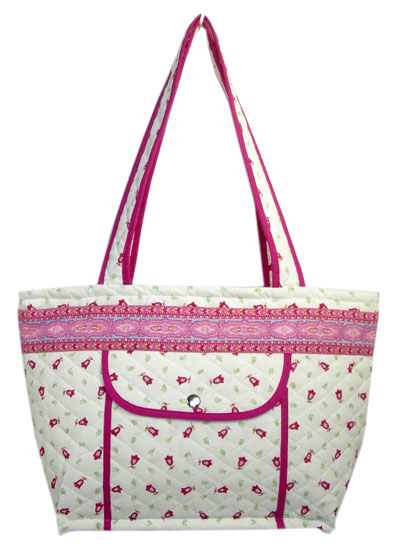 Provence pattern tote bag (Marat d'Avignon / Tradition. rose)