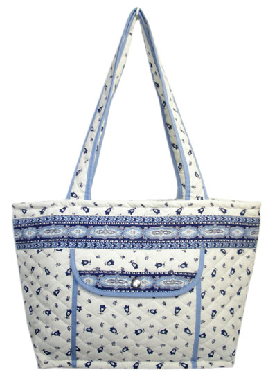 Provence pattern tote bag (Marat d'Avignon / Tradition. white b)