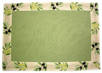 Provence Jacquard tea mat, (olives. green)