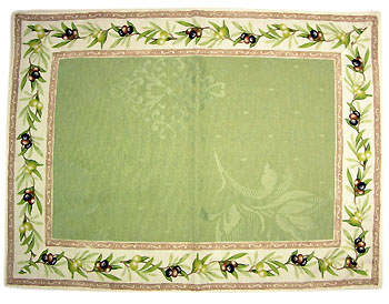 Provence Jacquard tea mat, (olives 2005. green)