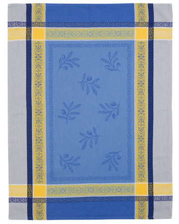 Set of 3 Jacquard dish cloths (Olivia. blue yellow)