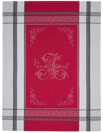Set of 3 Jacquard dish cloths (Romantique. red)