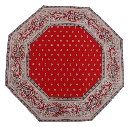 Octogonal table mat (Marat d'Avignon / bastide. red)