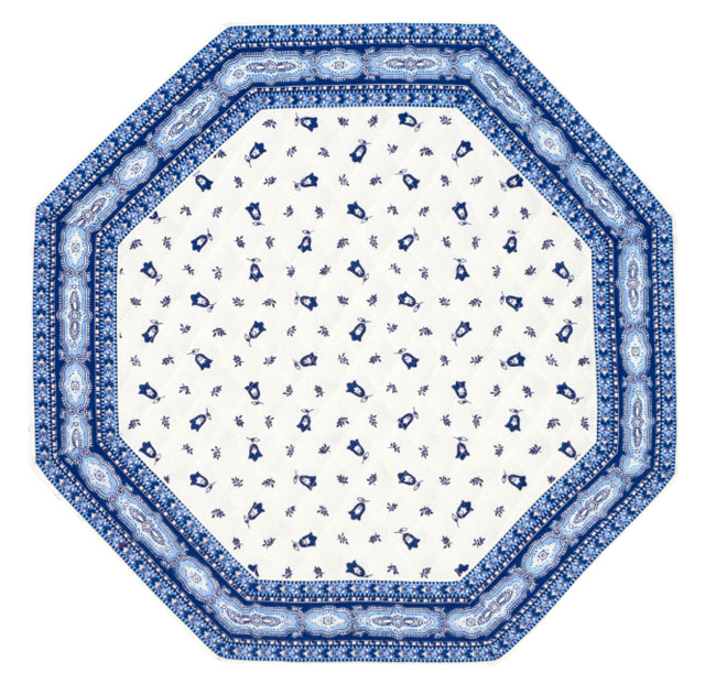 Octogonal table mat (Marat d'Avignon / tradition. white blu