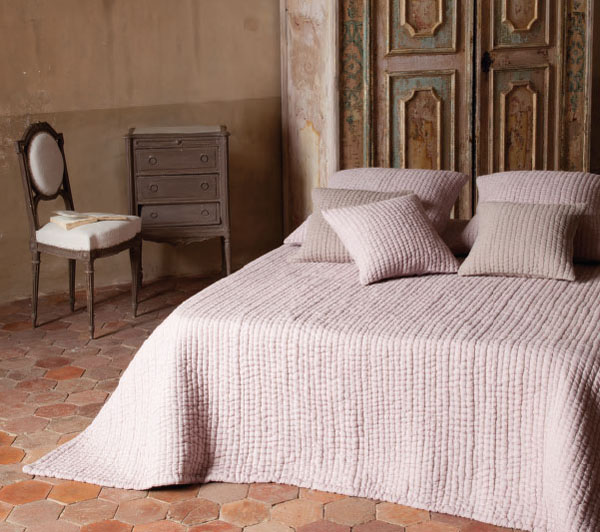 Provencal Boutis Bed Cover, Bedspread (AMBIANCE. 12 Colors)