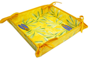 Provencal bread basket (cicada. yellow)