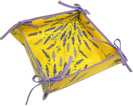 "Provencal ""coated"" bread basket (Lavender. yellow x purple)"