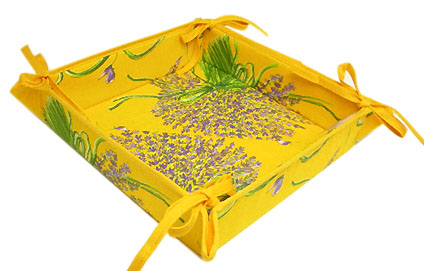 Provencal bread basket (Lavender. yellow)