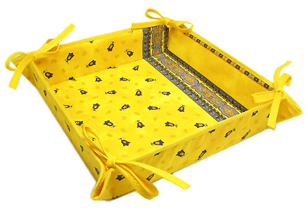 Provencal bread basket (Marat d'Avignon / tradition. yellow)