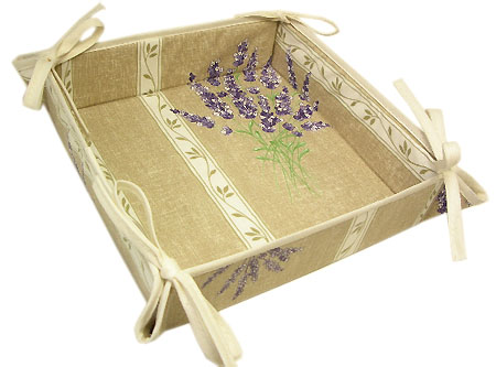 Provencal bread basket (Lavender 2007. natural)