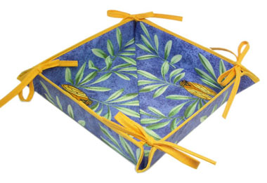 "Provencal ""coated"" bread basket (cicada. blue)"
