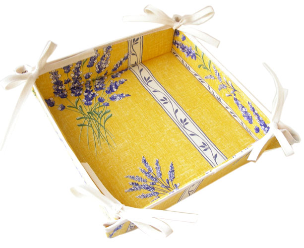 Provencal bread basket (Lavender2007. yellow)