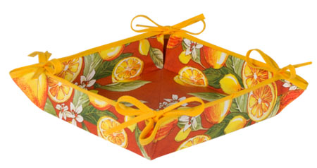 Provencal bread basket (lemons. orange)