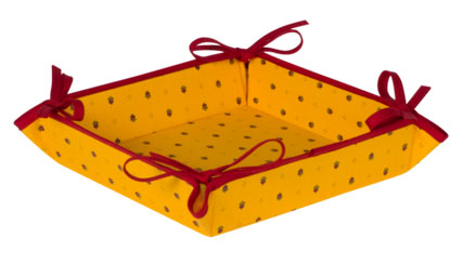 Provencal bread basket (Calissons. yellow x red)