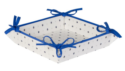 Provencal bread basket (Calissons. white x blue)