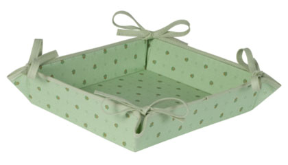 Provencal bread basket (Calissons. light green)