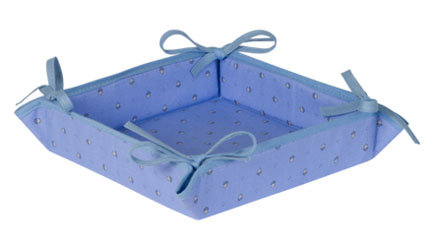 Provencal bread basket (Calissons. lavender blue)