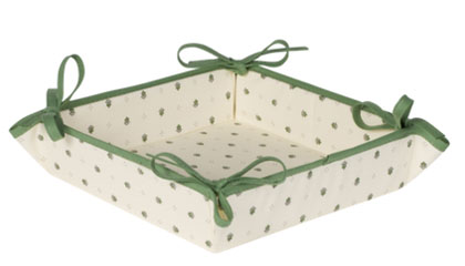 Provencal bread basket (Calissons. white green)