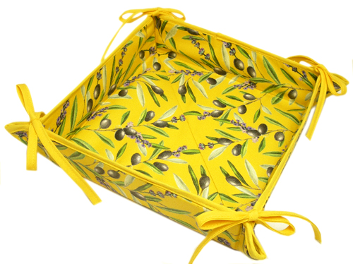 "Provencal ""coated"" bread basket (Lauris. yellow)"