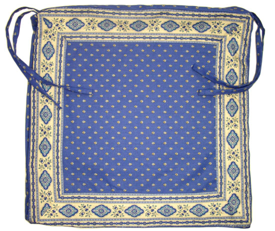 Provence Seat Cover with Ties (Esterel. blue)