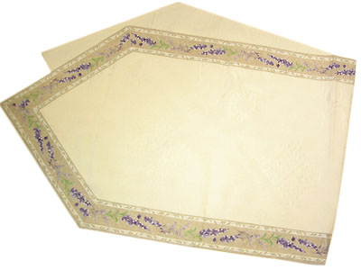 French Jacquard Table runner - vis a vis (lavender. natural)