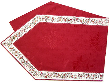 French Jacquard Table runner (Calission flower. bordeaux)