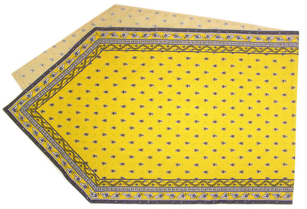 Provencal Table center - runner (Mireille_feuille. yellow)
