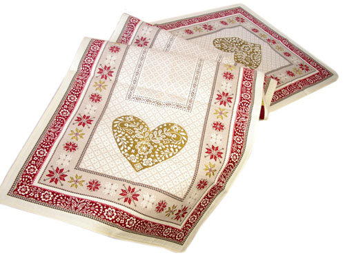Montagne Jacquard Table runner (Montagne Folk. grey-red)