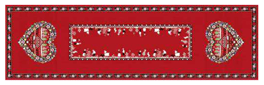 Montagne Jacquard Table runner (Plagne)