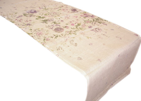 Provencal Table center - runner (Anemone. ivory-lilac)