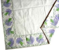 Jacquard multi-cover (lavender. purple x white)