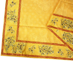 French Jacquard multi-cover (olives 2005. yellow x red)