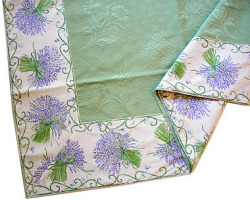 Jacquard multi-cover (lavender. purple x green)
