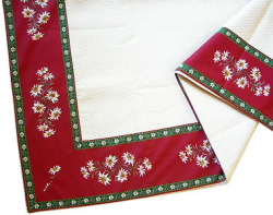 French Jacquard multi-cover (Christmas. bordeaux x green)
