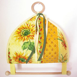 Kitchen paper holder (sunflowers & small pattern. yellow)