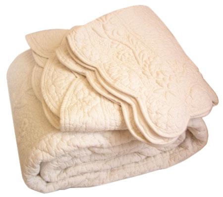 Provencal Boutis Bed Cover, Bedspread (ODELINE. Ivory)