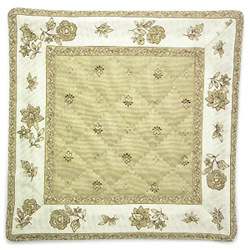 French Provence coaster (Calissons flowers. beige)