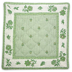 French Provence coaster (Calissons flowers. mint green)