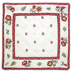 French Provence coaster (Calissons flowers. white x bordeaux)