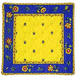 French Provence coaster (Calissons flowers. yellow x blue)