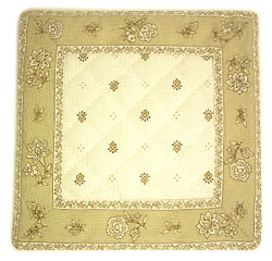 French Provence coaster (Calissons flowers. raw x beige)