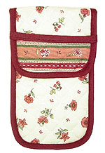 French sunglasses case (flower pattern. white x pink)