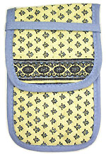 French sunglasses case (Lourmarin. white x blue)