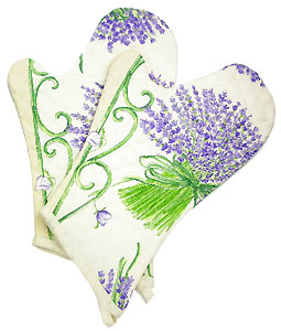Provence Oven Mitts (Lavender. raw)