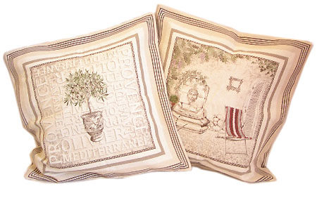 Jacquard cushion cover (GORDES)